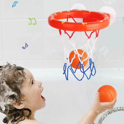 1 Set Bath Toy Basketball Hoop Suction Cup Mini  Christmas Gift for Baby Kids rt