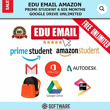 Edu Email Amazon Prime Student 6 Six Months Google Drive Unlimited.