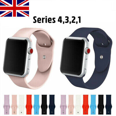 38mm 42mm Replacement Silicone Sport Band Strap for Apple Watch iWatch Small WC