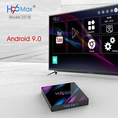 Androiod 9.0 TV Box H96 Max 4G+64GB Quad Core HD Receiver Streaming Media Player