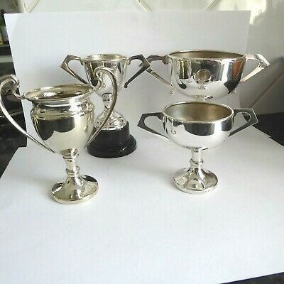 Vintage Collection Of Small Silver Plate Trophy Cups Epns - No Inscriptions
