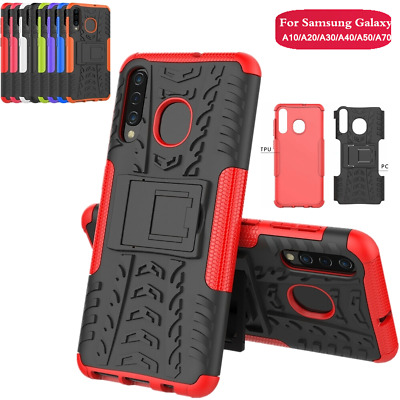 For Samsung Galaxy A30 A50 A70 M20 Case Stand PC Frame Rubber Back Phone Cover