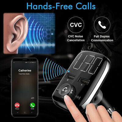 Handfree Car USB Charger FM Transmitter 3.4A Wireless Radio Adapter MP3 Player