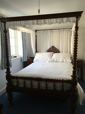 Victorian Colonial Four Poster Bed