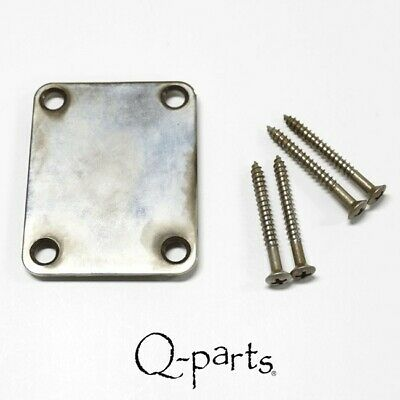 NEW Q-Parts Aged Collection '60s Style 4-Bolt Neckplate, AGED NICKEL, #NP5164-NI