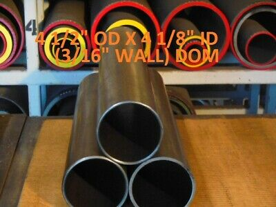 "E0441  Dom Round Steel Tube  4.500 Od  X  4.125 Id  (.187 Wall)   24""  Long"