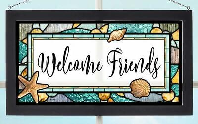Welcome Friends Stained Glass Art by Rosemary Millette