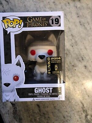 GOT Game of thrones funko pop GHOST RARE! #19 Retired! Vaulted! 2014 Convention