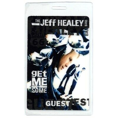 Jeff Healey authentic 2000 concert Laminated Backstage Pass Get Me Some Tour