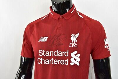b986a53ad77 New Balance Liverpool FC 2018-2019 Home Shirt John Arne Riise SIGNED SIZE S  mens