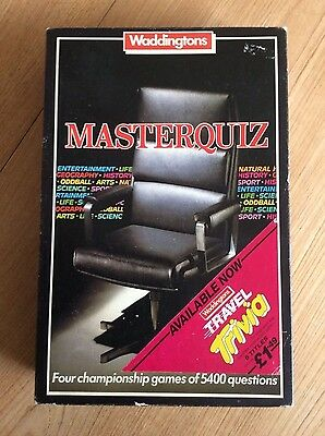 Vintage MASTERQUIZ game by Waddingtons 1984. Boxed and complete.