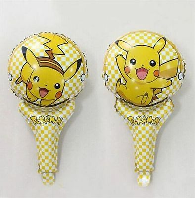 Lot Pikachu Inflatable Air Hand Balloons Birthday Party Decorations Supply UK