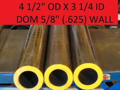 "E0470  Dom Round Steel Tube  4.500 Od  X  3.250 Id  (.625  Wall)   30""  Long"