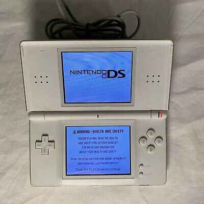 Nintendo DS Lite Crystal White Handheld System No Stylus video game console