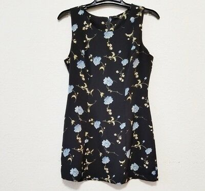 7a3474ac5 La Belle Junior Womens Dress Size 11 Black Floral Sleeveless Mini Length