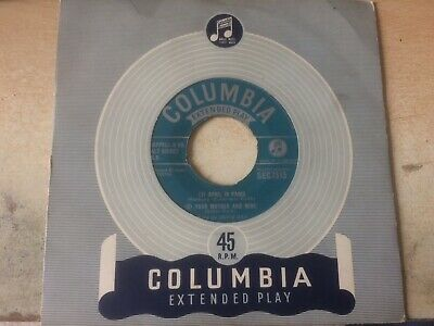 """Doris Day E.p.:""""April In Paris""""+3 Other Songs.1953 Columbia+""""Extended Play""""Cover"""