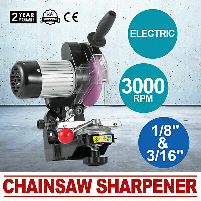 Pro Bench Electric Chainsaw Saw Sharpener Grinder 145mm 230W Induction Motor