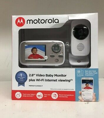 "New! Motorola 2.8"" Video Baby Monitor With Wi-Fi MBP667CONNECT Ships Free"