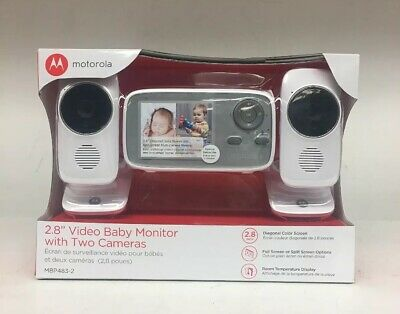 """New Motorola 2.8"""" Video Baby Monitor wth Two Cameras MBP483-2 *NEW SEALED*"""