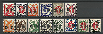 germany Danzig duty stamps 1921 coat of arms 5 Pfg - 3 M.mint hinged x