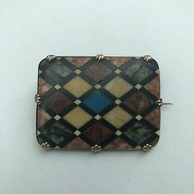 Antique Victorian Scottish Agate Speciman Brooch. Beautiful