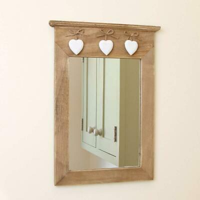 Shabby Chic Vintage Rustic Style Mirror Wooden Frame Heart Decor Home Style Love