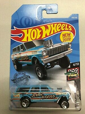 HOT WHEELS 2019 Brand New RACE DAY '64 NOVA WAGON GASSER JERRY RIGGED