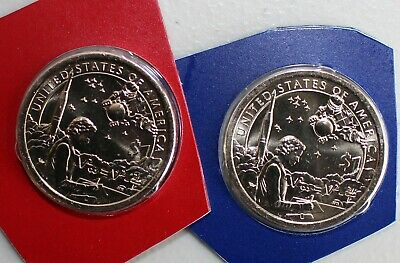 2019 P D Sacagawea Native American Indians In the Space Program Mint Set Dollars