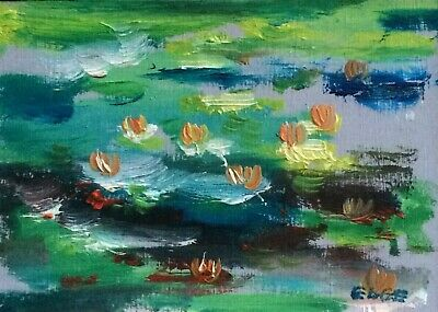 ACEO Original Miniature Oil Painting 'After Claude' By Carley Edge