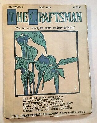 Original Craftsman Magazine May 1914 - Gustav Stickley