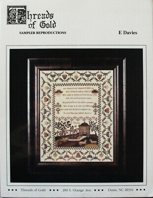 Threads of Gold E Davies Sampler Counted Thread Chart/Pattern