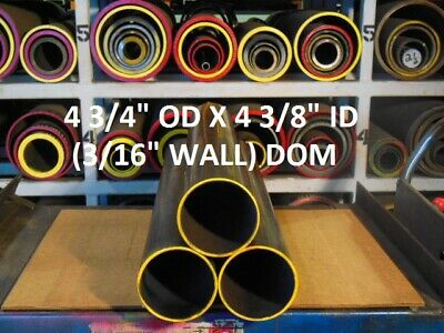 "E0485  Dom Round Steel Tube  4.750 Od  X  4.375 Id  (.187  Wall)   6"" Long"