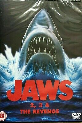 Jaws 2 Jaws 3  Jaws The Revenge Box Set  Dvd (12)   ***** Free Postage ******