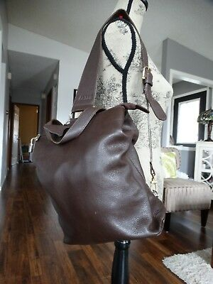 DANIER Soft Brown Leather Swing Bag