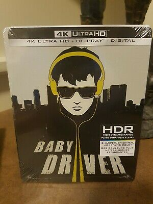 Baby Driver Steelbook Edition (4K Ultra Hd/Bluray) New Sealed