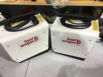 2 Electric Forced Air Heaters, 1.5kW,120V HEAT WAGON P1500