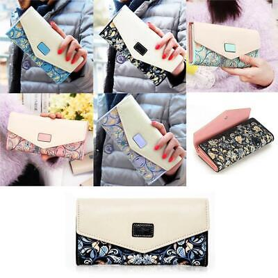 1pc Women's Leather Clutch Wallet Long PU Card Holder Lady Purse Handbag Gift BE