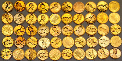 Lot of 50 Lincoln Memorial Proof Cents Rejects, Problem Coins, Variety of years