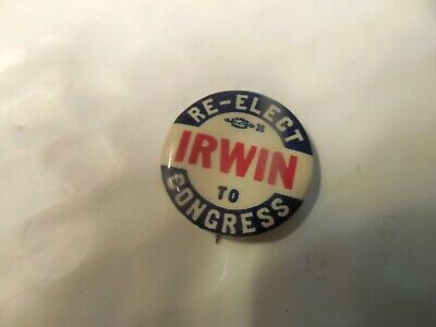 Connecticut Donald Irwin Congress Pin Back Local Campaign Button US U.S. House