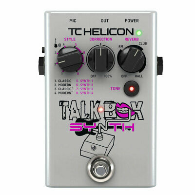 TC-Helicon Talkbox Synth Pedal for Singers / Electric Guitarists New