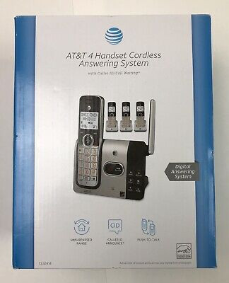 AT&T 4 Handset Cordless Answering System CL82414 With Caller ID & Call Waiting