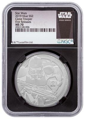 2019 Niue Silver $2 - Star Wars - Clone Trooper - MS 70 FR - NGC Coin - POP=9