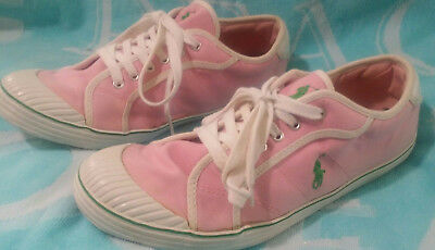 POLO RALPH LAUREN Pink Ladies Sneakers Womens Shoes Size 6 M