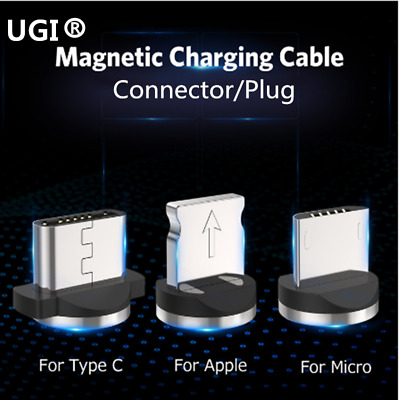 360 Degrees Magnetic Adapter iOS Type-c Micro USB Charger Connector For Cable
