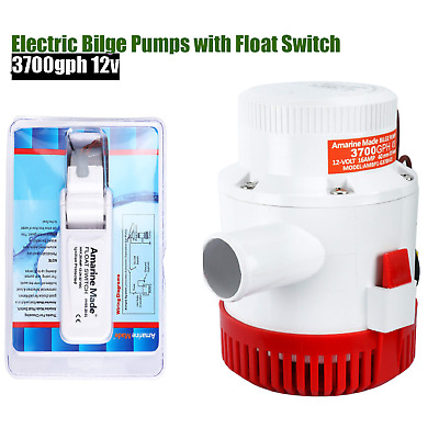 Automatic 3700 GPH High Flow Marine Boat Electric Bilge Pump with Float Switch