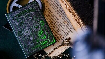 Cyberpunk Green  - Elephant Playing Cards playing cards