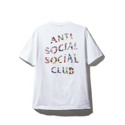 bfe97a10f044 DS Anti Social Social Club ASSC Flag Logo White Tee Shirt (in hand) Bape