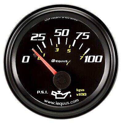 Equus 6234 6000 Series Oil Pressure Gauge