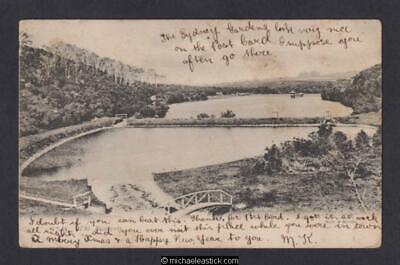 New Zealand The Reservoir, Ross Creek, Dunedin Muir & Moodie Postcard