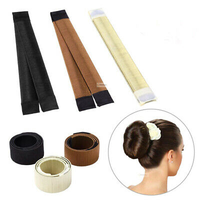 Hair Bun Maker Donut Styling Bands Former Foam French Twist Snap DIY Tool Blonde
